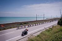 peloton riding next to the Adriatic Sea<br /> <br /> Stage 8: Tortoreto Lido to Pesaro (239km)<br /> 102nd Giro d'Italia 2019<br /> <br /> ©kramon