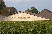 Vineyard. Chateau La Fleur Pourret Manoncourt. Saint Emilion, Bordeaux, France
