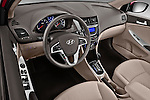 High angle dashboard view of a 2012 Hyundai Accent GLS Sedan
