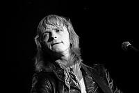 le chanteur francais Renaud en spectacle le 25 octobre 1984 au Spectrum de Montreal, quebec, Canada<br /> <br /> PHOTO D'ARCHIVES : Agence Quebec Presse