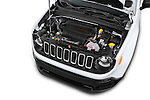 Car Stock2017 JEEP Renegade Sport 5 Door Suv Engine high angle detail view