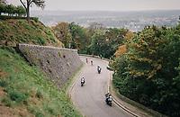 race leaders Jasper Stuyven (BEL/Trek-Segafredo) & Dimitri Claeys (BEL/Cofidis) in the finale up the Citadelle de Namur <br /> <br /> 59th Grand Prix de Wallonie 2018 <br /> 1 Day Race from Blegny to Citadelle de Namur (BEL / 206km)