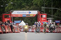 a 5-man breakaway stayed ahead for some laps in Madrid<br /> <br /> stage 21: Alcala de Henares - Madrid (98km)<br /> 2015 Vuelta à Espana