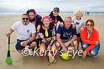 Enjoying Banna Beach on Saturday, kneeling l to r: Chris Mc Sweeney, Deidre and Billy Stuart and Tracy Kelliher. Standing l to r: Kelyan Mc Sweeney with Dylan and Ollie Stuart