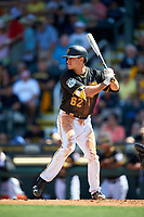 Pittsburgh Pirates Max Moroff (62) at bat during a Spring Training game against the Tampa Bay Rays on March 10, 2017 at LECOM Park in Bradenton, Florida.  Pittsburgh defeated New York 4-1.  (Mike Janes/Four Seam Images)