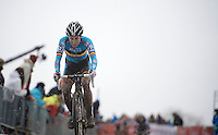 Sanne Cant (BEL) in 2nd position<br /> <br /> Elite Women's Race<br /> <br /> 2015 UCI World Championships Cyclocross <br /> Tabor, Czech Republic