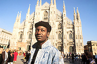 - immigrant from the Senegal in Duomo square....- immigrato dal Senegal in piazza del Duomo