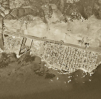 historical aerial photograph Shell Beach, San Luis Obispo County, California, 1963