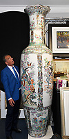 A giant 8ft tall Chinese vase has emerged for sale for £6,000.