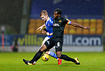 St Johnstone v Livingston…12.12.20   McDiarmid Park      SPFL<br />Ali McCann and Marvin Bartley<br />Picture by Graeme Hart.<br />Copyright Perthshire Picture Agency<br />Tel: 01738 623350  Mobile: 07990 594431
