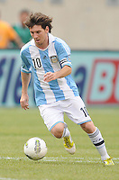 Argentina forward Lionel Messi (10) The Argentina National Team defeated Brazil 4-3 at MetLife Stadium, Saturday July 9 , 2012.