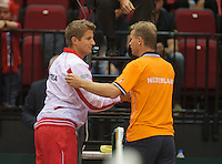 15-sept.-2013,Netherlands, Groningen,  Martini Plaza, Tennis, DavisCup Netherlands-Austria, fourth rubber,  Captans <br /> Photo: Henk Koster