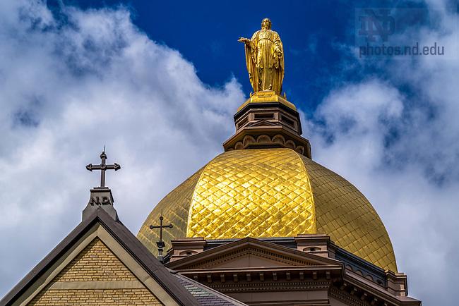 August 4, 2020; Golden Dome (Photo by Matt Cashore/University of Notre Dame)