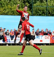 Izegem - FC Luik :....Juichende Wim Vandoorne na de tweede treffer voor Izegem..foto VDB / BART VANDENBROUCKE