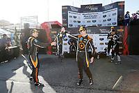 #54 JDC-Miller MotorSports, Audi RS3 LMS TCR, TCR: Michael Johnson, Stephen Simpson, #77 Compass Racing, Audi RS3 LMS TCR, TCR: Britt Casey Jr, Tom Long, #12 eEuroparts.com Racing, Audi RS3 LMS TCR, TCR: Kenton Koch, Tom O'Gorman, podium, champagne