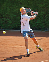 Netherlands, Amstelveen, August 23, 2015, Tennis,  National Veteran Championships, NVK, TV de Kegel,  Final men's 40+, Jeroen Bok<br /> Photo: Tennisimages/Henk Koster