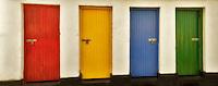 Colored doors. Inishfree Pier, Ennicrone,Ireland
