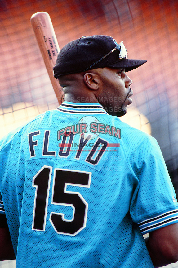 Cliff Floyd of the Florida Marlins during a game against the Los Angeles Dodgers at Dodger Stadium circa 1999 in Los Angeles, California. (Larry Goren/Four Seam Images)