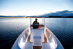 The Sanctuary 620 Trailable Motor launch..The Sanctuary 620 represents a change of tack for the lake Macquarie based Van Munster Boatbuilding. Indeed it's hard to believe that the classically styled dayboat comes from the same stable as cutting-edge sailing dinghies.