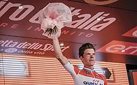 podium ceremony for stage winner Bob Jungels (LUX/Quick-Step Floors)<br /> <br /> Stage 15: Valdengo › Bergamo (199km)<br /> 100th Giro d'Italia 2017