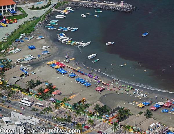 aerial photograph of Playa Villa del Mair beach, Veracruz, Mexico | fotografía aérea de la playa Villa del Mair, Veracruz, México
