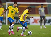 4th June 2021; Beira-Rio Stadium, Porto Alegre, Brazil; World Cup 2022 qualifiers; Brazil versus Ecuador; Gabriel Jesus and Roberto Firmino of Brazil