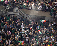 CHICAGO, IL - JULY 7: Mexican fans celebrate a goal during a game between Mexico and USMNT at Soldier Field on July 7, 2019 in Chicago, Illinois.