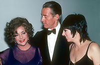 Taylor Halston Minnelli1023.JPG<br /> Celebrity Archaeology<br /> 1983 FILE PHOTO<br /> New York, NY<br /> Liz Taylor Halston Liza Minnelli<br /> Photo by Adam Scull-PHOTOlink.net