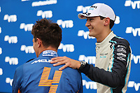 25th September 2021; Sochi, Russia; F1 Grand Prix of Russia  qualifying sessions;  F1 Grand Prix of Russia 4 Lando Norris GBR, McLaren F1 Team, 63 George Russell GBR, Williams Racing