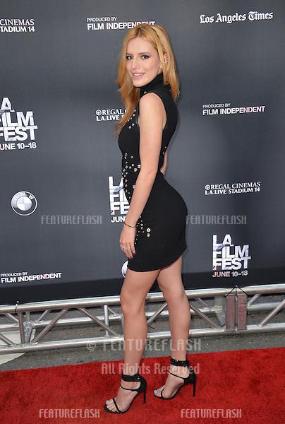 """Bella Thorne at the LA Film Festival premiere of MTV's """"Scream"""" at the Regal Cinema LA Live. <br /> June 14, 2015  Los Angeles, CA<br /> Picture: Paul Smith / Featureflash"""