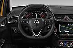 Car pictures of steering wheel view of a 2019 Opel Corsa GSI 3 Door Hatchback Steering Wheel