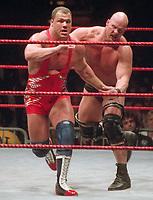 Stone Cold Steve Austin Kurt Angle 2000                                                        By John Barrett/PHOTOlink