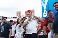 DENVER, CO - JUNE 6: Fans during a game between Mexico and USMNT at Mile High on June 6, 2021 in Denver, Colorado.