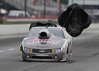 May 10, 2013; Commerce, GA, USA: NHRA pro stock driver Greg Anderson during qualifying for the Southern Nationals at Atlanta Dragway. Mandatory Credit: Mark J. Rebilas-