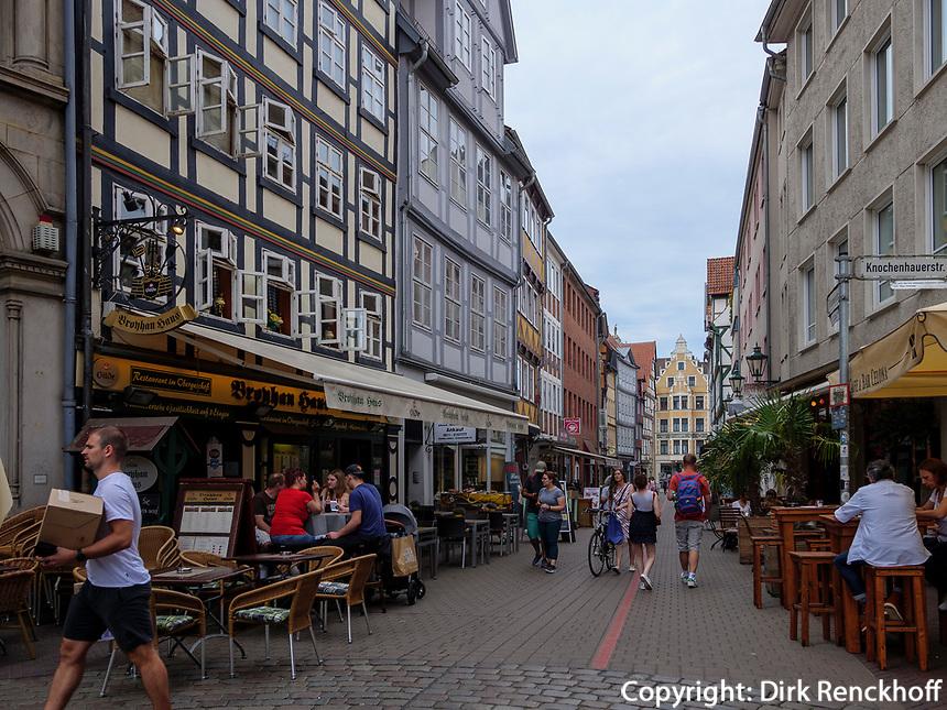 Fachwerkhäuser an der Kramerstraße, Hannover, Niedersachsen, Deutschland, Europa<br /> half-timbered houses at Kramer St., Hanover, Lower Saxony, Germany, Europe