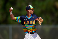 Kristian Campbell during the WWBA World Championship at the Roger Dean Complex on October 20, 2018 in Jupiter, Florida.  Kristian Campbell is a shortstop from Marietta, Georgia who attends Milton High School and is committed to Georgia Tech.  (Mike Janes/Four Seam Images)