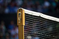 01-07-13, England, London,  AELTC, Wimbledon, Tennis, Wimbledon 2013, Day seven, Netpost and net<br /> <br /> <br /> <br /> Photo: Henk Koster