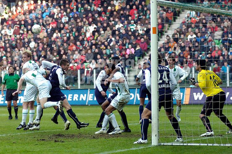 fc groningen - az eredivisie seizoen 2007-2008 17-02-2008 dringen voor az doel.fotograaf Jan Kanning *** Local Caption ***