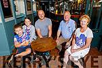 The Turner family in their bar on Tuesday morning. Seated l to r: AJ, Amy, Aidan, Jerry and Carmel Turner