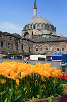 Istanbul is know for having mosques only a walking distance from any spot one may be.  Islamic Ottoman Architecture is very evident all over the capital of Turkey.
