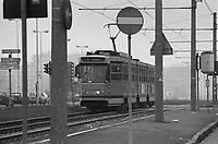 - Milan outskirtses, tram in Gratosoglio area....- periferie di Milano, tram in zona Gratosoglio