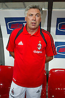 Milano 27/7/2004 Trofeo Tim - Tim tournament <br /> <br /> Carlo Ancelotti Milan trainer<br /> Carlo Ancelotti Allenatore del Milan<br /> <br /> Inter Milan Juventus <br /> Inter - Juventus 1-0<br /> Milan - Juventus 2-0<br /> Inter - Milan 5-4 d.cr - penalt.<br /> <br /> Photo Andrea Staccioli Insidefoto