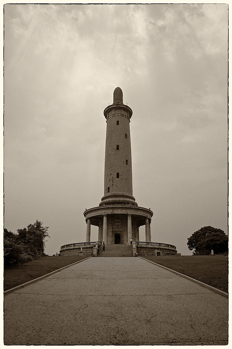 """Loyalty Tower"" Was Originally Built On Top Of Baiyu (White Jade) Hill By The Japanese As A Memorial To Fallen Comrades In The Russo-Japanese War Of 1904-05.  Lushun (Port Arthur)."