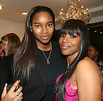 Sports Illustrated Swimsuit Model Damaris Lewis and Amoy Pitters attend Celebrity Hairstylist Amoy Pitters & Host Joy Bryant Celebrate The Opening of Amoy Couture Hair Salon with Music by DJ Cassidy, New York, 2/16/10