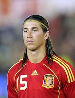 Sergio Ramos of Spain. Spain v USA, International Friendly, Santander, Spain, 4th June 2008.