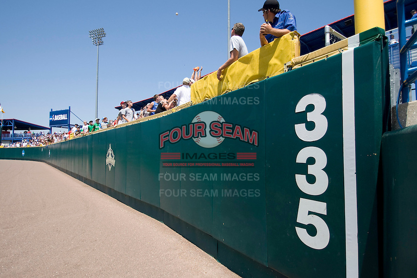 Rosenblatt Stadium home of the NCAA Division One Men's College World Series on June 25th, 2010 in Omaha, Nebraska.  (Photo by Andrew Woolley / Four Seam Images)