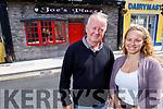 Pamela and Joe O'Connor outside Joe's Bar in Pembroke St on Monday morning.
