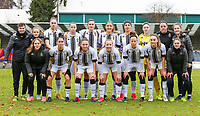 Charleroi team photo with the substitutes taken before  a female soccer game between FC Femina White Star Woluwe and Sporting Charleroi on the 10 th matchday of the 2020 - 2021 season of Belgian Scooore Womens Super League , Saturday 19 th of December 2020  in Woluwe , Belgium . PHOTO SPORTPIX.BE | SPP | SEVIL OKTEM