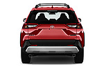 Straight rear view of a 2019 Toyota RAV4 Adventure 5 Door SUV stock images