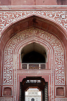 Agra, India.  Entrance to Itimad-ud-Daulah.